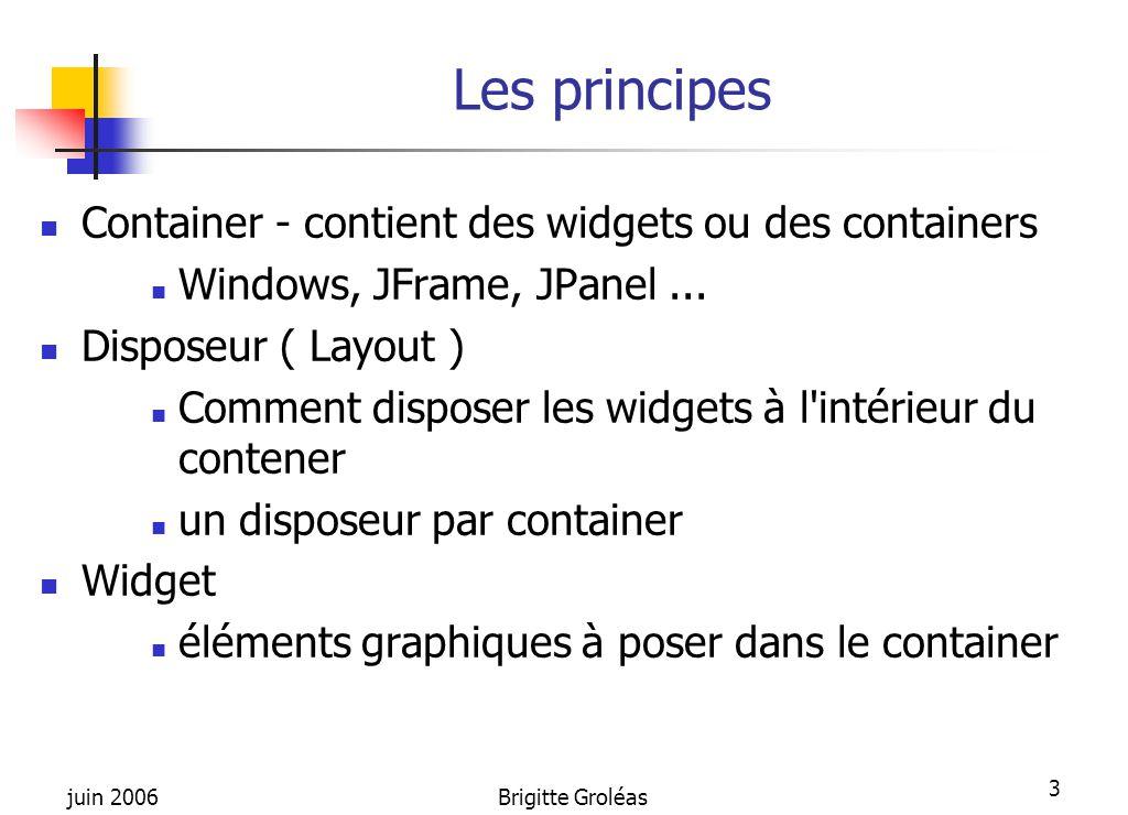 Les principes Container - contient des widgets ou des containers