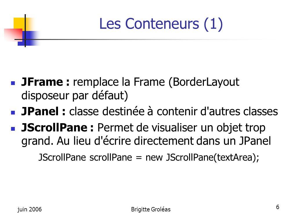 JScrollPane scrollPane = new JScrollPane(textArea);