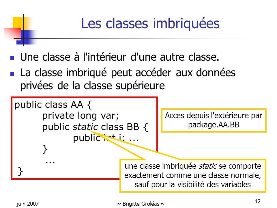 Les classes imbriquées