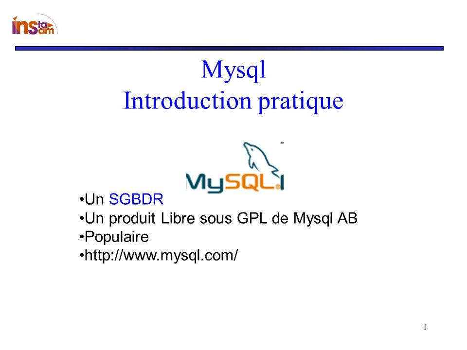 Mysql Introduction pratique