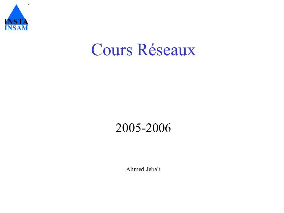 Cours Réseaux 2005-2006 Ahmed Jebali