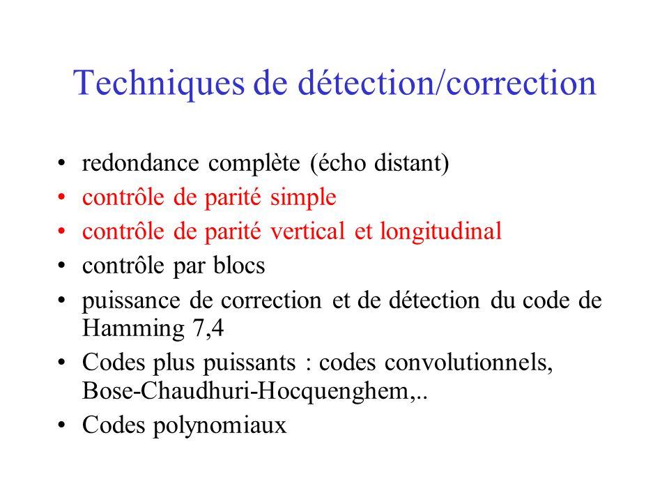 Techniques de détection/correction