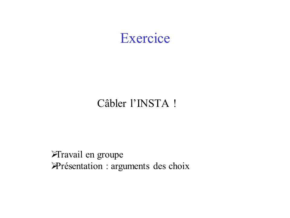 Exercice Câbler l'INSTA ! Travail en groupe