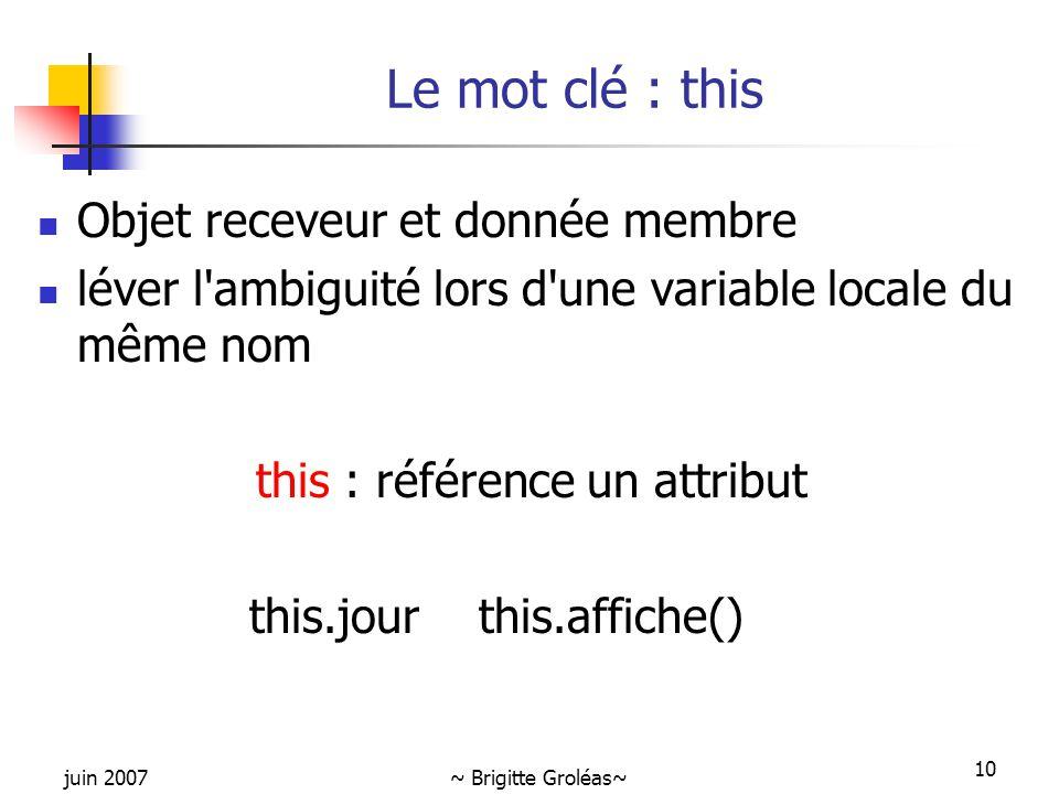 this : référence un attribut