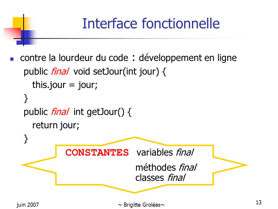 Interface fonctionnelle