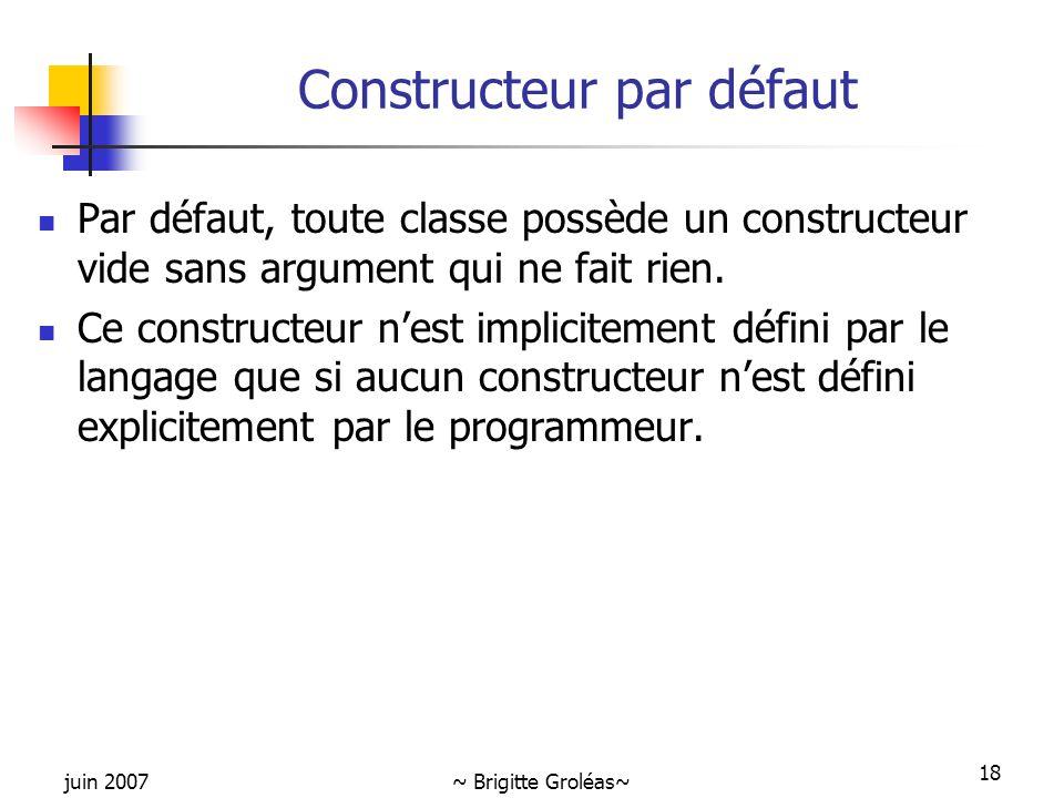 Constructeur par défaut