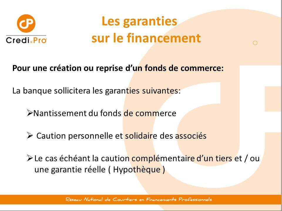 Les garanties sur le financement