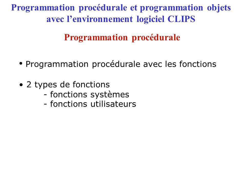Programmation procédurale avec les fonctions