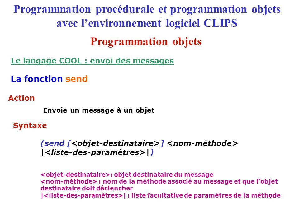Le langage COOL : envoi des messages