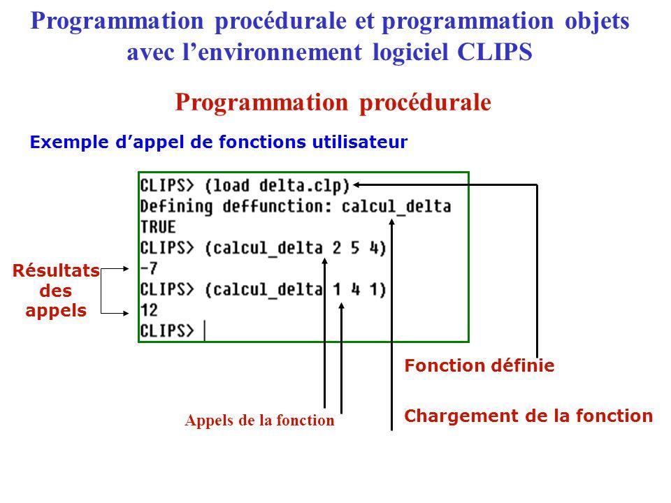 Exemple d'appel de fonctions utilisateur Chargement de la fonction