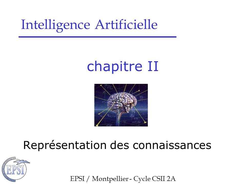 Chapitre II : Représentation des connaissances