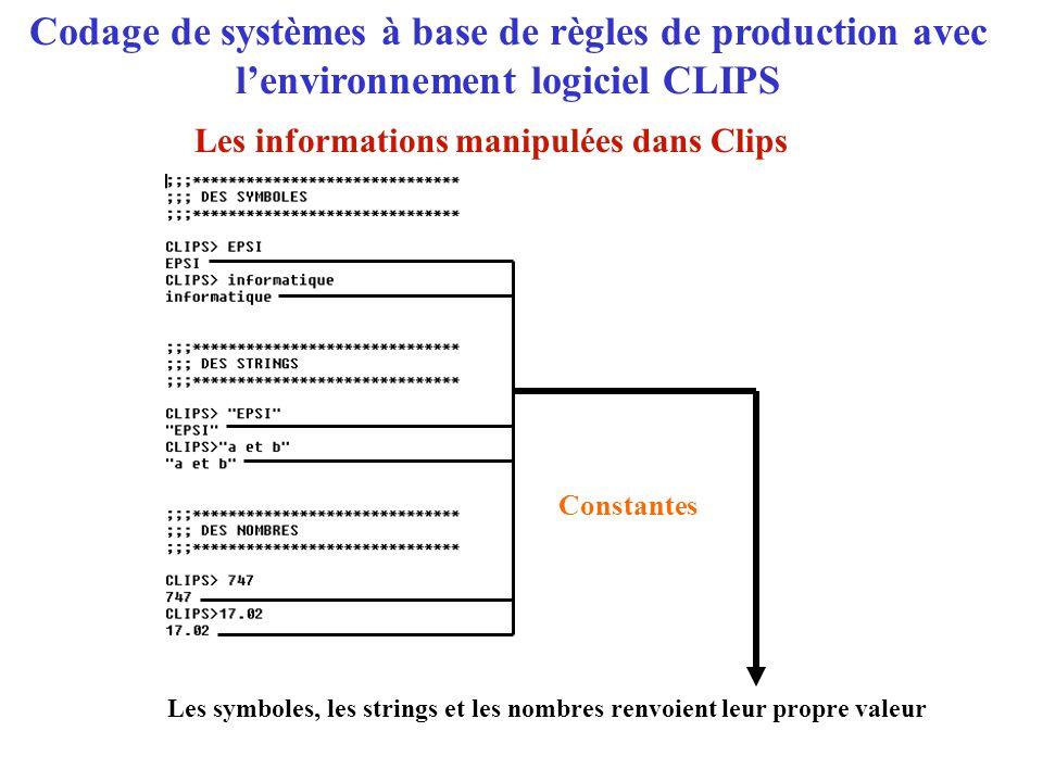 Les informations manipulées dans Clips