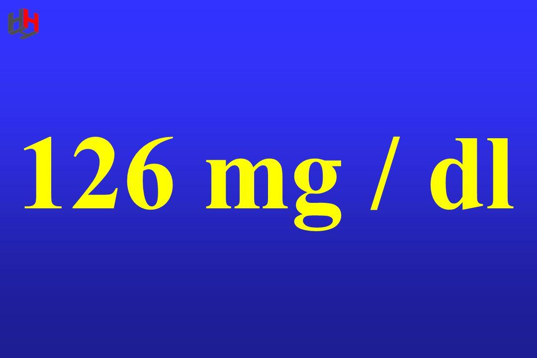 126 mg / dl