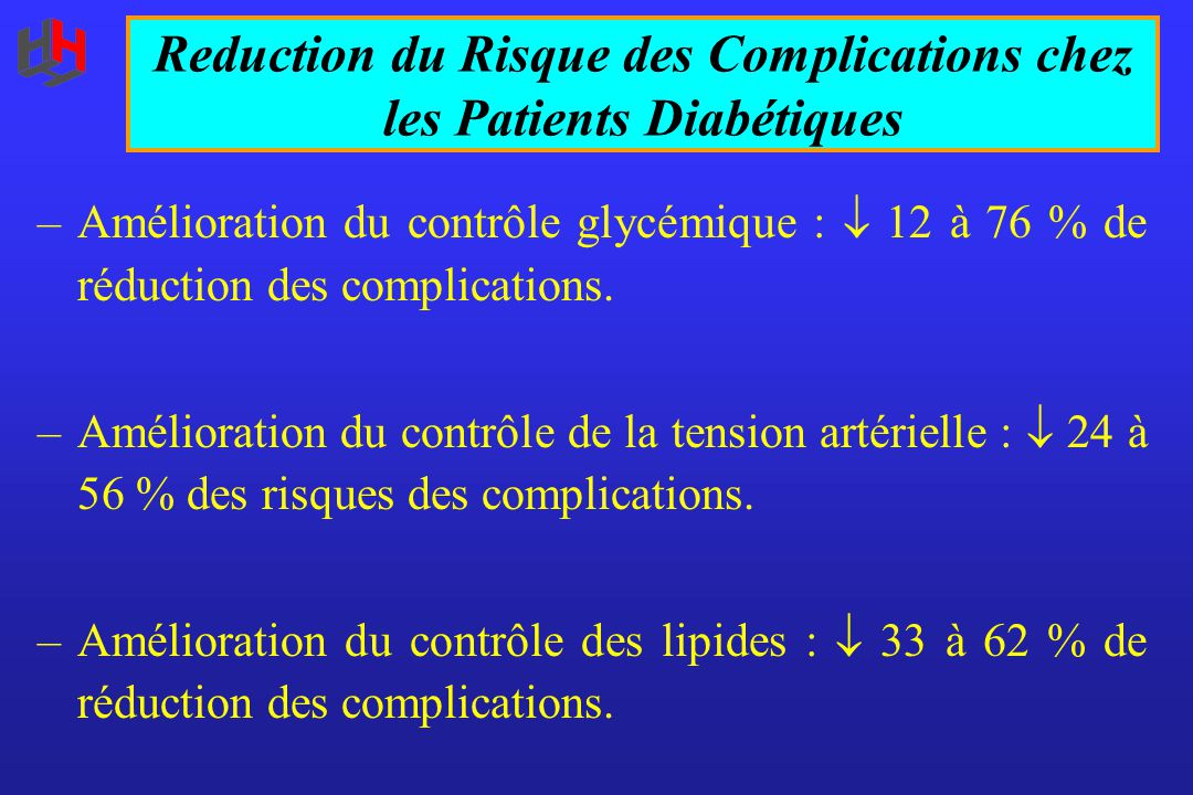 Reduction du Risque des Complications chez les Patients Diabétiques