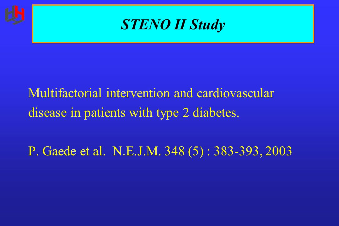 STENO II Study Multifactorial intervention and cardiovascular