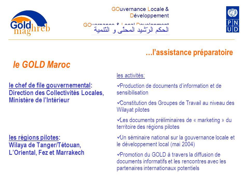 le GOLD Maroc …l'assistance préparatoire