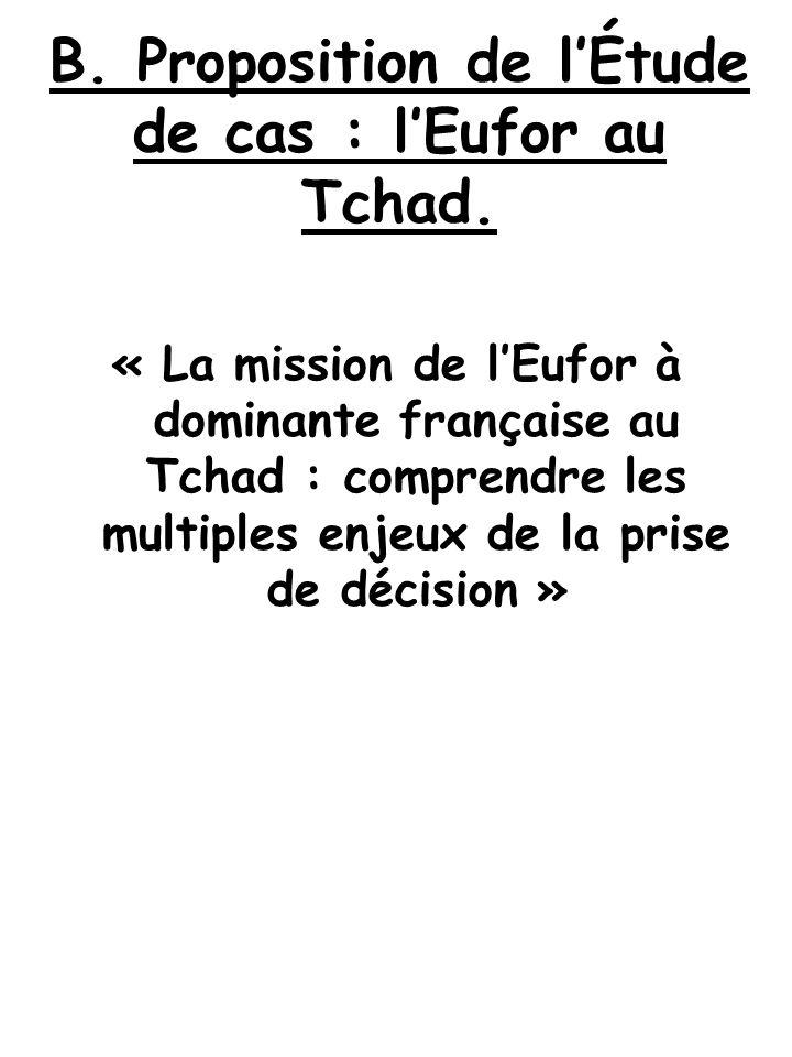 B. Proposition de l'Étude de cas : l'Eufor au Tchad.