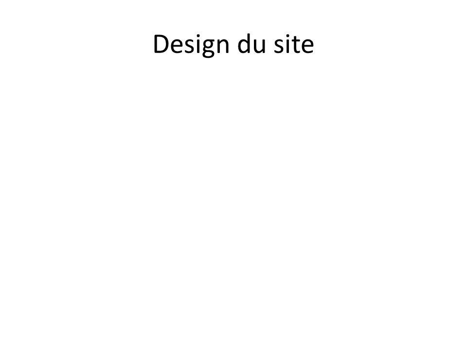 Design du site