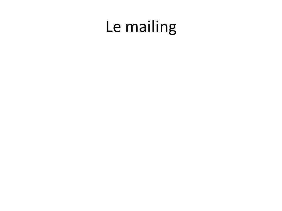 Le mailing