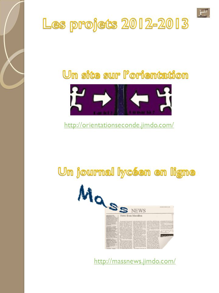 Un site sur l'orientation Un journal lycéen en ligne