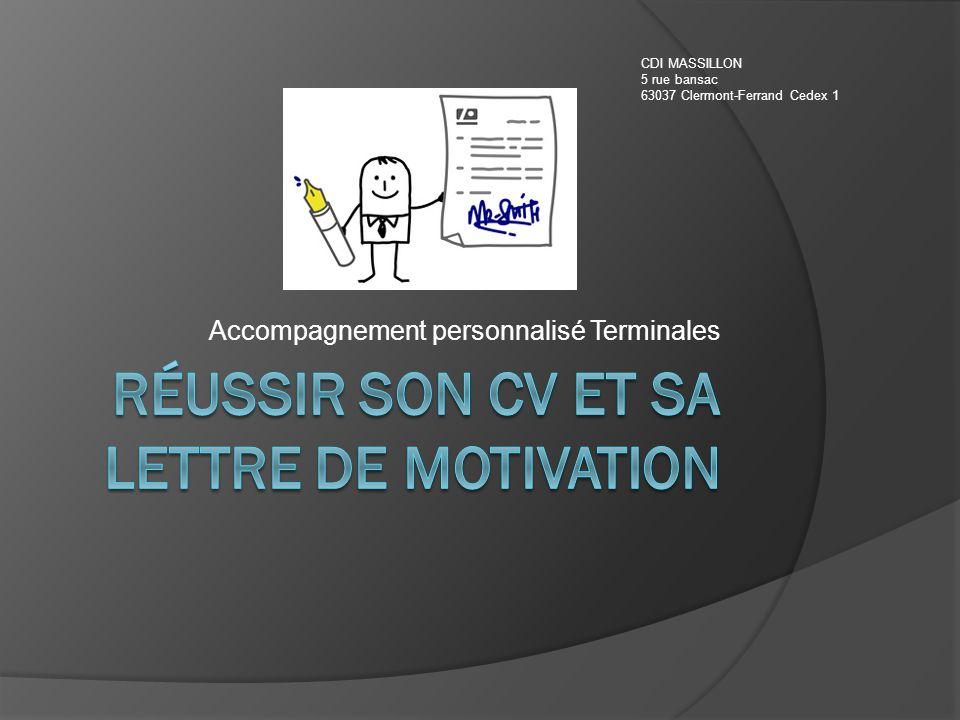 Réussir son CV et sa lettre de motivation