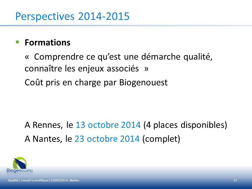 Perspectives 2014-2015 Formations