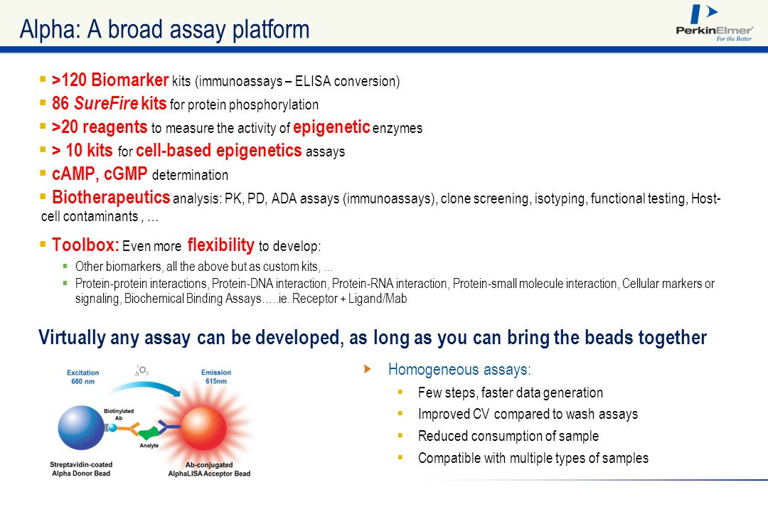 Alpha: A broad assay platform