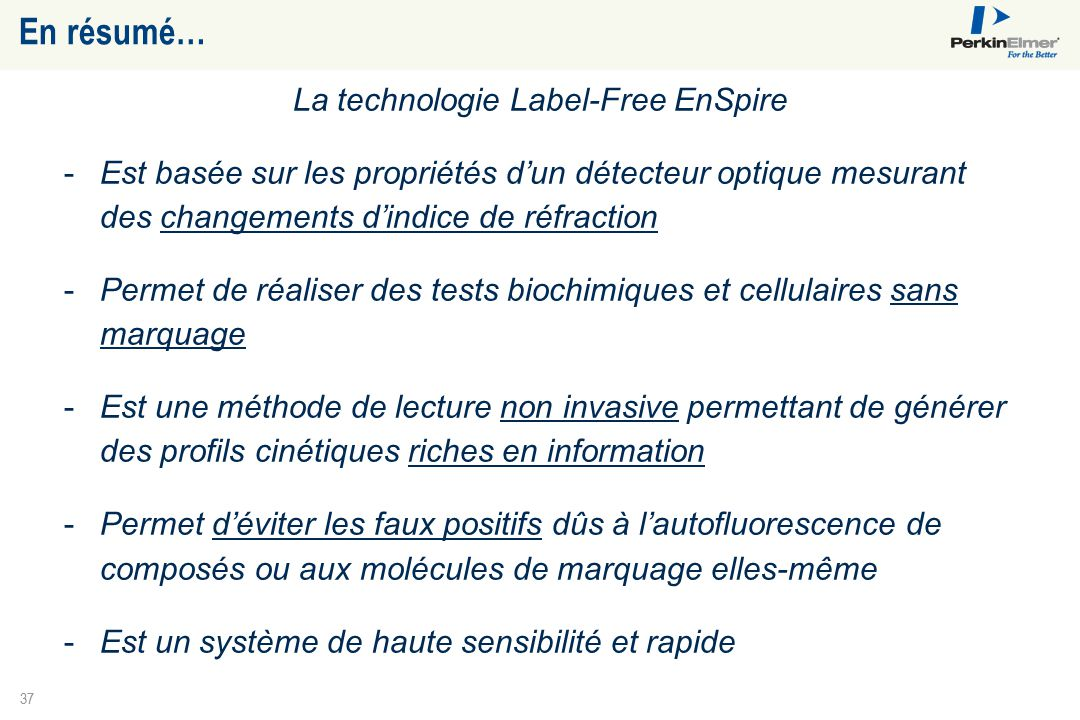 La technologie Label-Free EnSpire