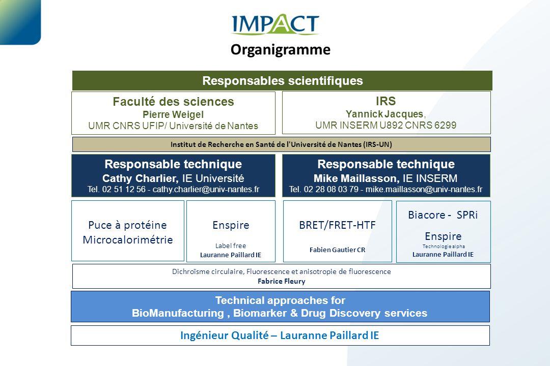 Organigramme Responsables scientifiques Faculté des sciences IRS