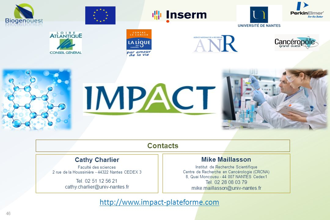 http://www.impact-plateforme.com Contacts Cathy Charlier