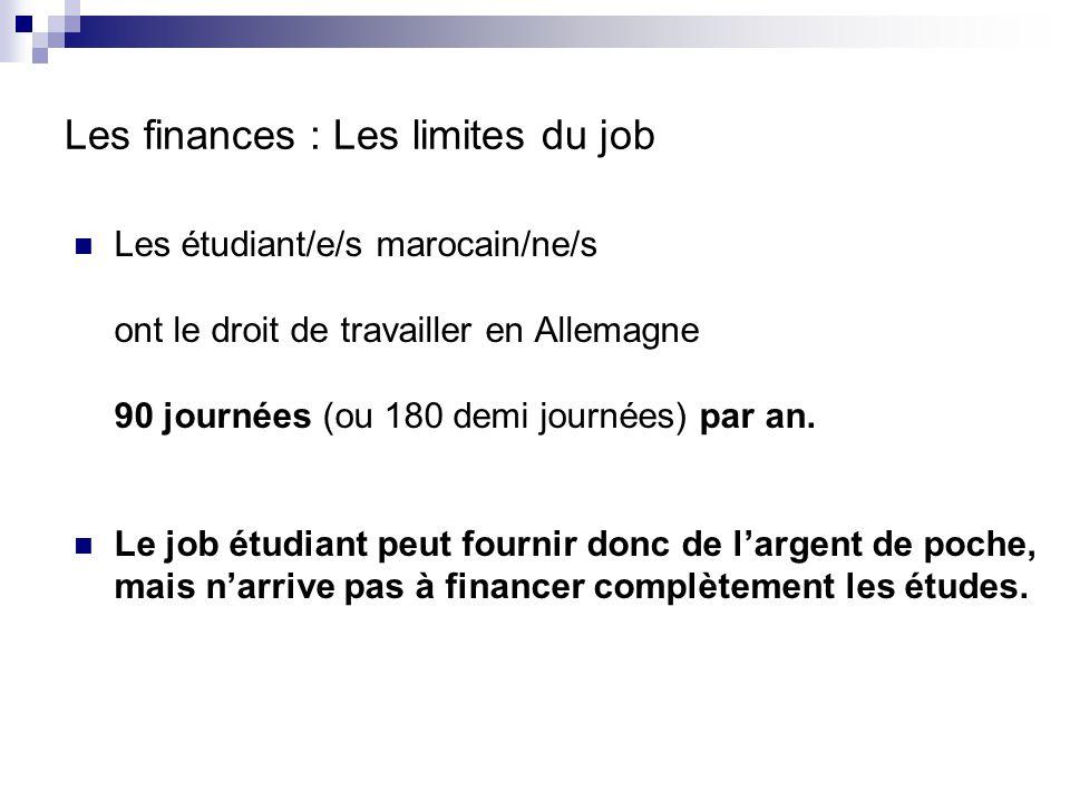Les finances : Les limites du job