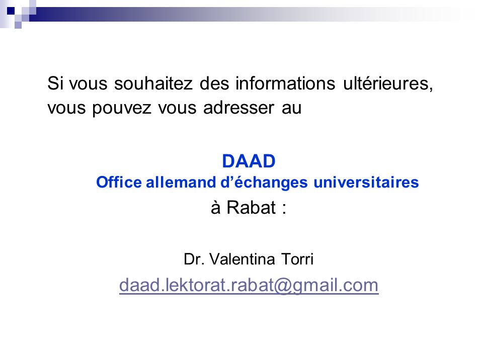 DAAD Office allemand d'échanges universitaires