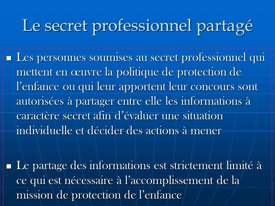 Le secret professionnel partagé