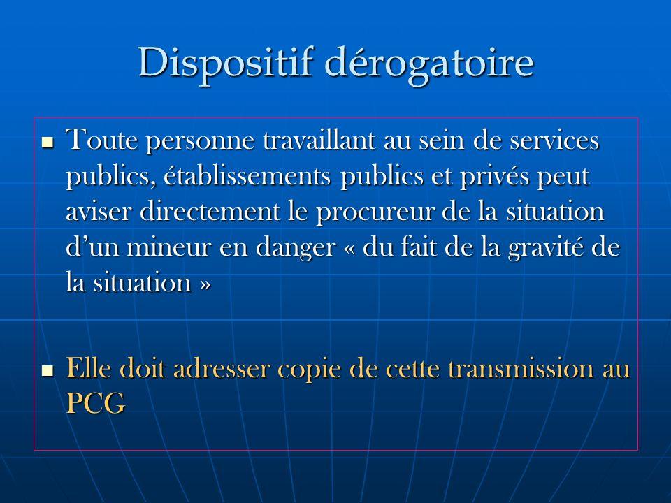 Dispositif dérogatoire