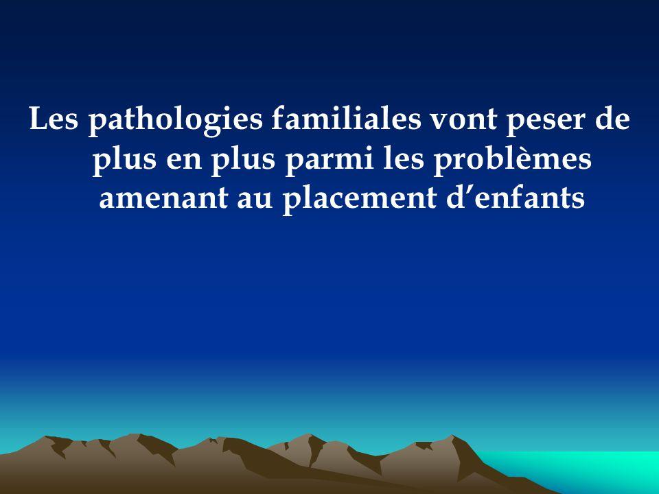 Les pathologies familiales vont peser de plus en plus parmi les problèmes amenant au placement d'enfants