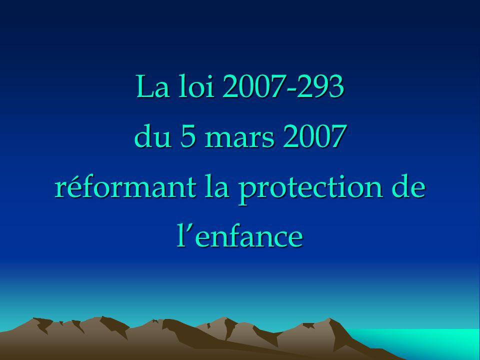 La loi 2007-293 du 5 mars 2007 réformant la protection de l'enfance