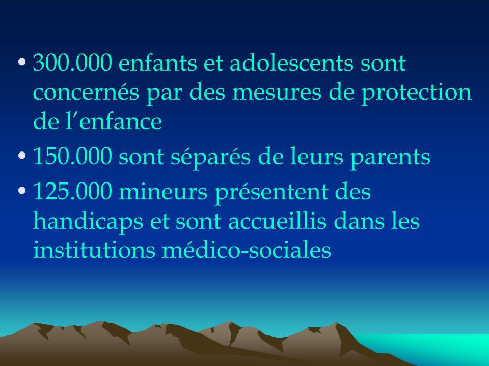 300.000 enfants et adolescents sont concernés par des mesures de protection de l'enfance