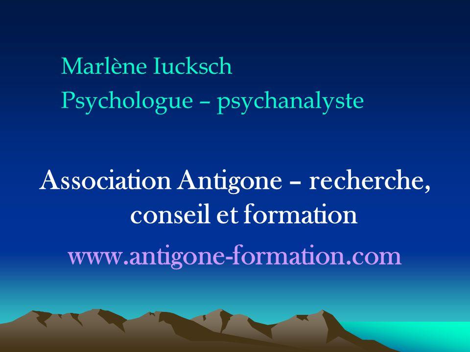 Association Antigone – recherche, conseil et formation