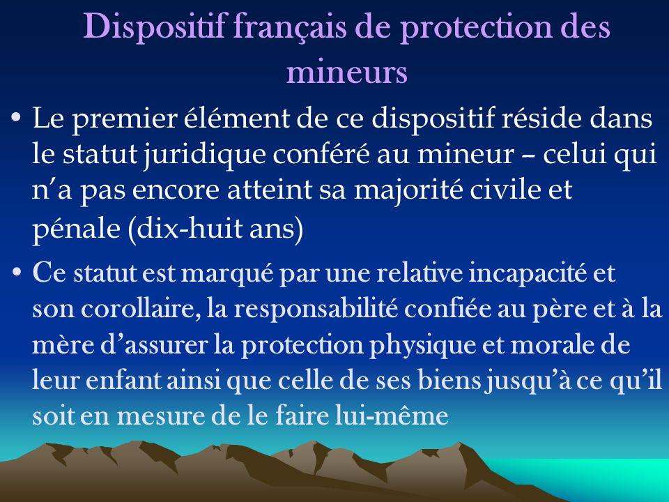 Dispositif français de protection des mineurs