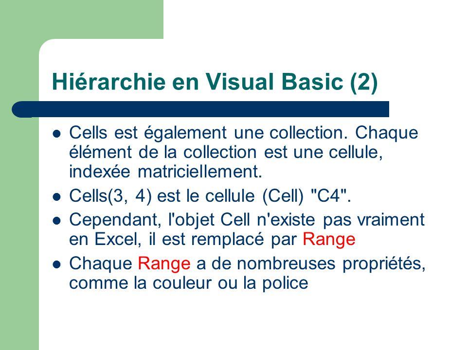 Hiérarchie en Visual Basic (2)