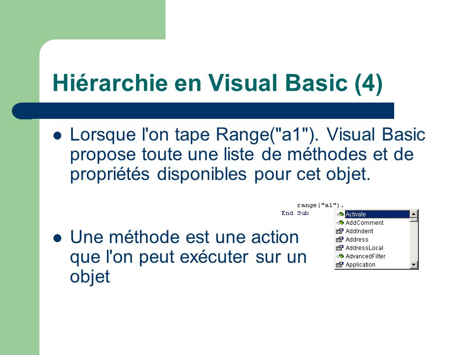 Hiérarchie en Visual Basic (4)