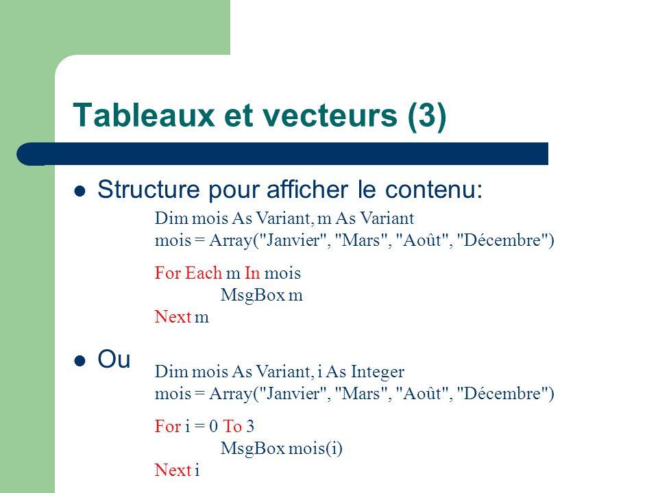 Tableaux et vecteurs (3)