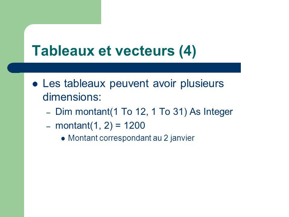 Tableaux et vecteurs (4)