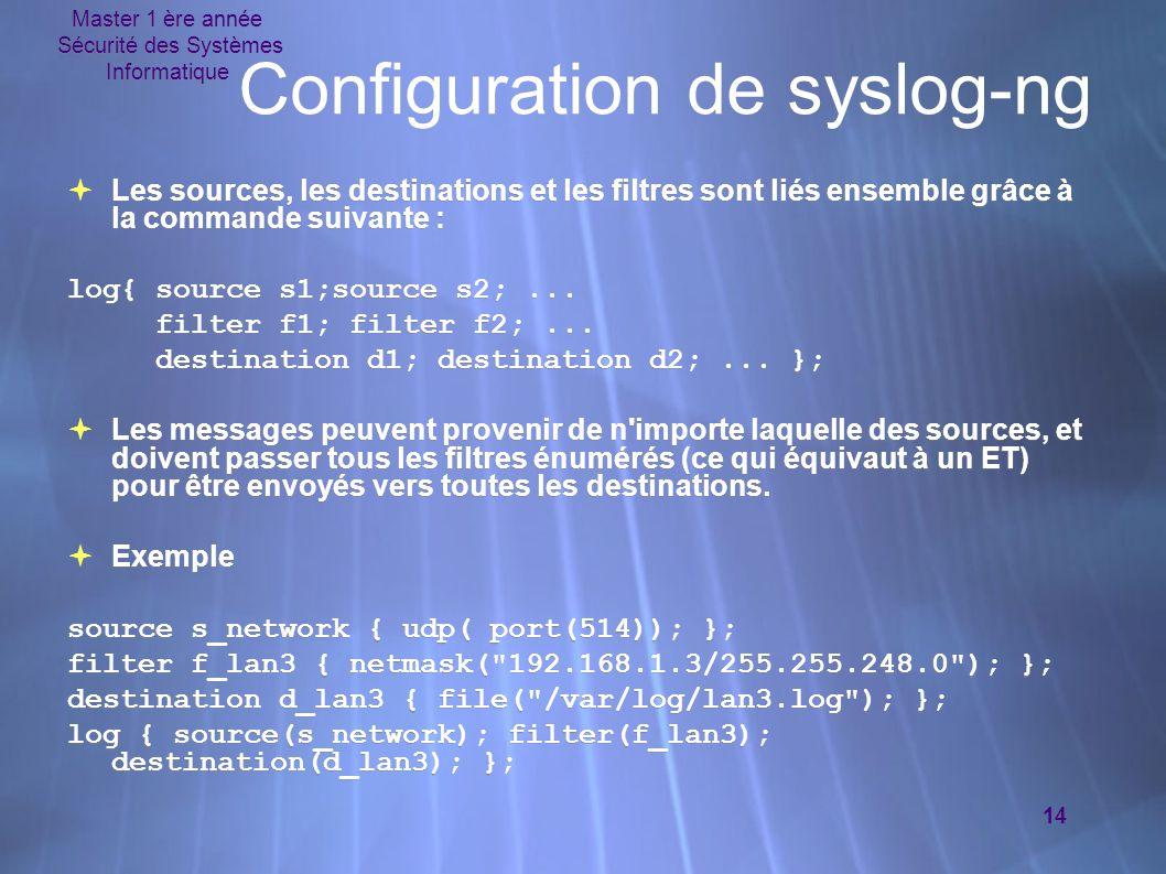 Configuration de syslog-ng