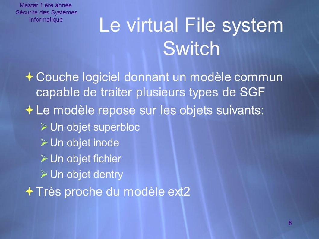 Le virtual File system Switch