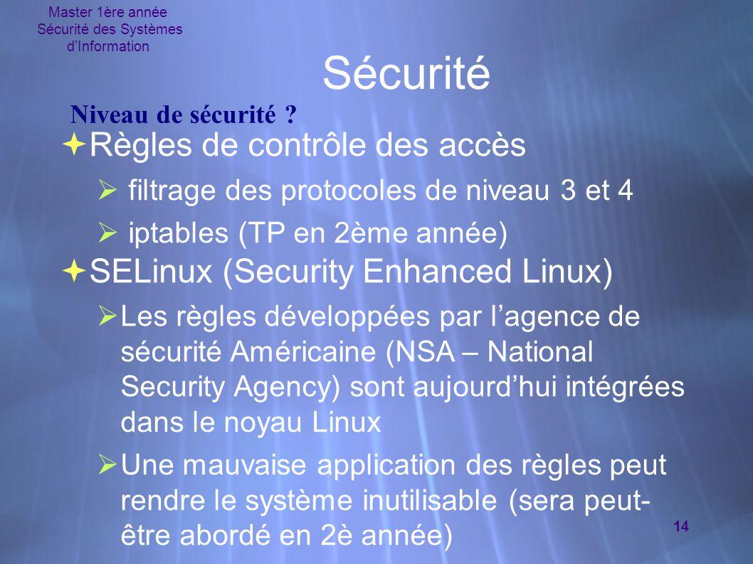 Sécurité des Systèmes d'Information