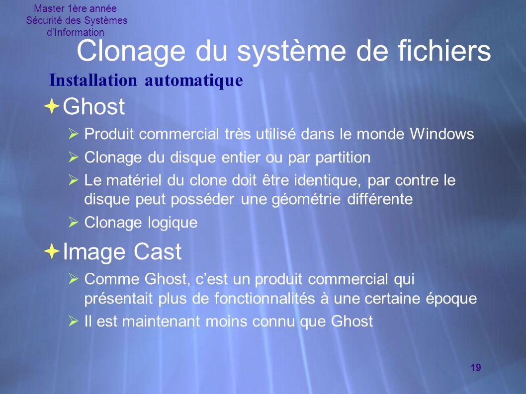 Clonage du système de fichiers