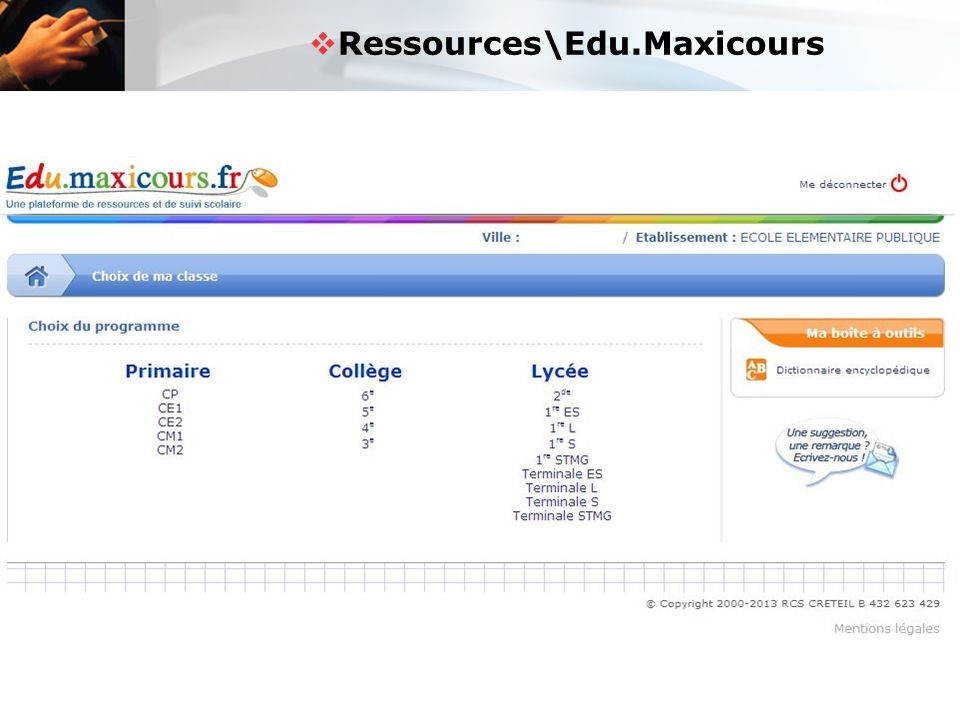Ressources\Edu.Maxicours