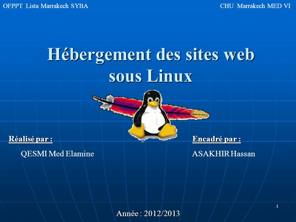 Hébergement des sites web sous Linux