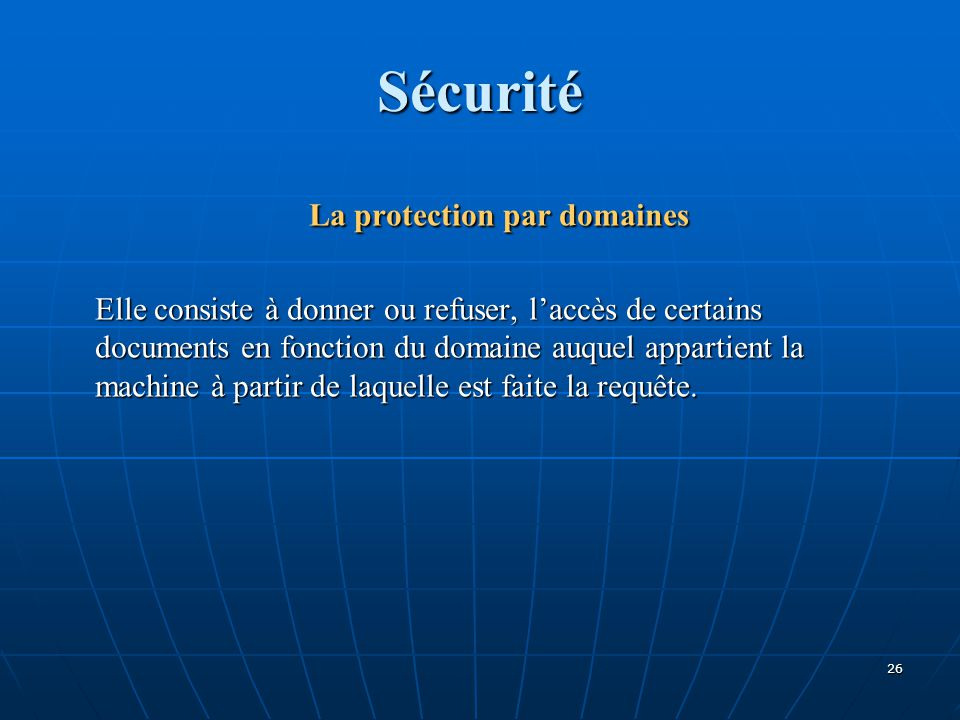 La protection par domaines
